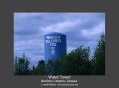 Renfrew Water Tower Water Tower, Ontario, Buildings, Industrial, Photos, Pictures, Industrial Music
