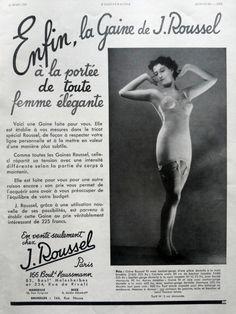 39d4081174bdd J. Roussel underwear lingerie corseterie vintage poster, corset torso  luxury French underwear retro poster