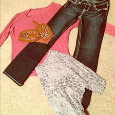Bundle!!!! This bundle comes with a surprise! (Hint: PINK, Vs) Comment below! Thanks guys!                    Sizes:                                                                          Jeans (size small) Purple shirt (small) pink comfy shirt (small) and belt (OS) ❤️ PINK Victoria's Secret Other