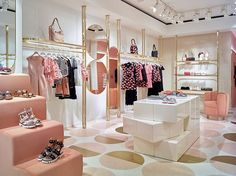 Join us over the Salone del Mobile Milano - Studio RED - RED Life by RED Valentino Source by store design Boutique Design, Boutique Decor, Clothing Boutique Interior, Clothing Store Design, Pink Clothing Store, Retail Store Design, Store Interiors, Retail Interior, Retail Space