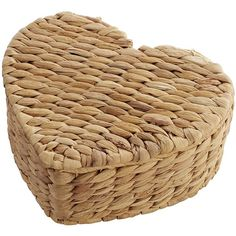 Pier 1 Imports Natual Wicker Petite Heart Box ($15) ❤ liked on Polyvore featuring home, home decor, small item storage, natural, heart shaped jewelry box, heart shaped box, wicker box, heart box and woven box