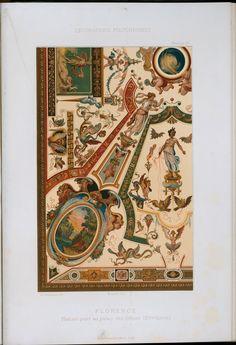 Florence : plafond peint au Palais des Offices (XVIme siècle)