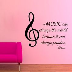 Quote Music Can Change The World Vinyl Sticker Interior Art Mural Kids Nursery Room Decor Sticker Decal size Color Music Tattoos, Life Tattoos, Vinyl Wall Art, Wall Decals, Sticker Vinyl, Sticker Ideas, Music Lyrics, Music Quotes, Art Music