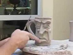 Art Ed Central loves :Mitchell Grafton sculpting a Face Mug - Time Lapse - YouTube