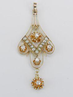 Antique Art Deco Victorian Edwardian 14K Yellow Gold by GalaxyGems