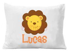 Items similar to Nursery Pillowcase - Cotton Lion Pillow Case for ...