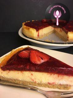 New Yorki epres sajttorta | | Sylvia Gasztro Angyal Yorki, Cheesecake, Sweets, Recipes, Food, Caramel, Sweet Pastries, Meal, Gummi Candy
