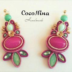Soutache earrings by CocoNina handmade.