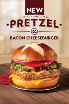 Pretzel Bacon Cheeseburger from Wendy's.