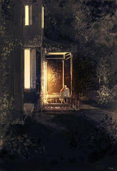 Heartwarming Illustration by Pascal Campion Love Illustration, Digital Illustration, Pascal Campion, Vincent Van Gogh, Cute Art, Amazing Art, Illustrators, Fantasy Art, Concept Art