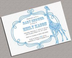 DIY Printable Baby Boy Shower Invitations