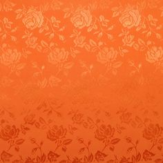 Orange Jacquard Satin