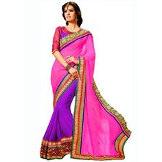 Wonderful Georgette Embroidered Work Festive Wear & Party Wear Saree at just Rs.1160/- on www.vendorvilla.com. Cash on Delivery, Easy Returns, Lowest Price.