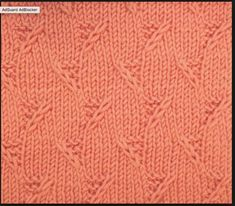 """Garter Stitch Triangles is another great """"all over"""" textured stitch when you don't want something lacy. You'll find it in the Bobbles & Slip Stitches category. Knitting Help, Knitting Stiches, Knitting Charts, Lace Knitting, Crochet Stitches, Gilet Crochet, Knit Or Crochet, Stitch Patterns, Knitting Patterns"""