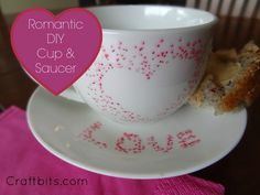 This Valentine's Day tutorial shows you how to make a themed Coffee Cup and Saucer.