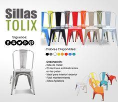 Descubre nuestra nueva variedad de colores en sillas Tolix.¡Ven y Visitanos! Contáctanos a los telefonos: 2440-1620/2440-1607
