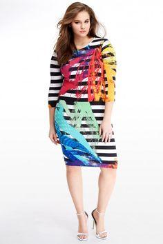 Plus Size Brushstroke Bodycon Dress | Fashion To Figure $38.50