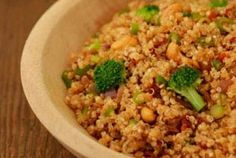 Zesty Quinoa with Broccoli and Cashews | Whole Foods Market recommended by the sister :)