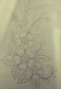 Hand Embroidery Design Patterns, Basic Embroidery Stitches, Hand Work Embroidery, Embroidery Suits Design, Embroidery Flowers Pattern, Ribbon Embroidery, Floral Embroidery, Fabric Paint Designs, Hand Work Blouse Design