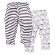 Buy John Lewis Sheep and Stripe Joggers, Pack of 2, Grey Online at johnlewis.com