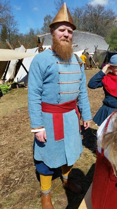 Reconstruction of Birka Viking man's outfit.