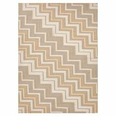 Wool flatweave with a zig zag motif.  Product: RugConstruction Material: 100% WoolColor: TanFeatures:  ReversibleDurableEasy care Note: Please be aware that actual colors may vary from those shown on your screen. Accent rugs may also not show the entire pattern that the corresponding area rugs have.Cleaning and Care: Vacuum regularly. Blot spills immediately and then with cold water. Avoid direct sunlight to prevent fading. Periodic professional cleaning recommended.