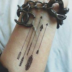 150 Stunning Arrow Tattoo Designs & Meanings - Part 3 Hand Tattoos, Mädchen Tattoo, Cute Tattoos On Wrist, Wrist Tattoos For Women, Tattoo Designs For Women, Finger Tattoos, Get A Tattoo, Back Tattoo, Cross Tattoos