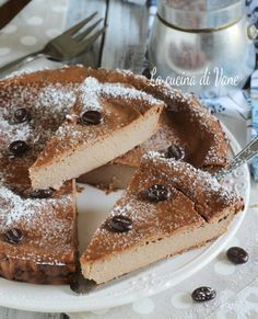 Torta ricotta e caffè cremosa senza farina,burro e lievito,si scioglie in bocca Bakery Recipes, Wine Recipes, My Recipes, Sweet Recipes, Dessert Recipes, Tortilla Sana, Tortillas Veganas, Patisserie Sans Gluten, Different Cakes