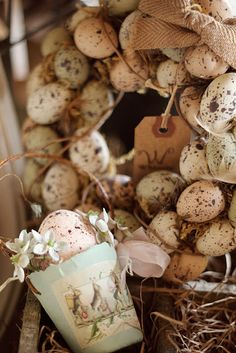Think these are really lightweight plastic eggs ... so easy to manage. Like the browns/peachy pink colors ...