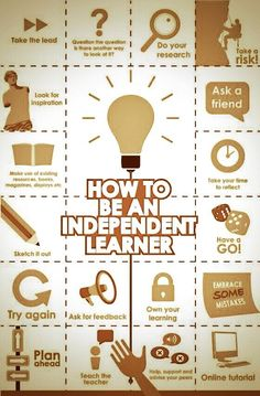 Awesome visual featuring 18 tips to raise independent learnes