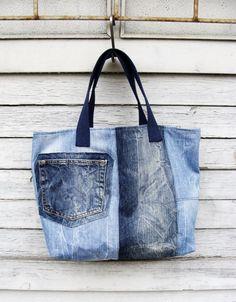 Denim Bag #5 Torby na ramię, #woman, #bag, #tote, #shopper, #denim, #handmade, #recycling, #nudakillers, #denimlove, #summerbags, #denimbags