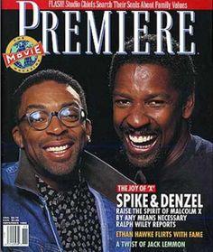 Denzel Washington, Spike Lee, Malcolm X  - Premiere Magazine November 1992