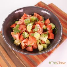 Tomato Cucumber Salad by Ariel Derby. #TheChew