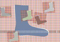 Kuinka pitkä sukan terä pitäisi neuloa? Tarkista koko tästä taulukosta.