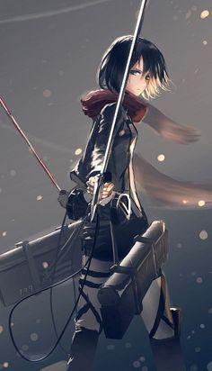 Mikasa. Attack on titan. 進撃の巨人.