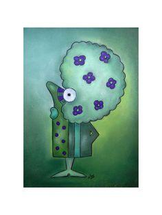 """Humor - """"Afrodite"""" Digtaldruck Pastellzeichnung - ein Designerstück von ninaboosart bei DaWanda"""