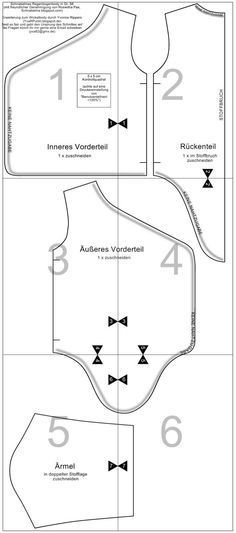 FREE: Wraparound onesie pattern (Gr. 56/0-3m) and tutorial based off Schnabelina's free Rainbowbody pattern.