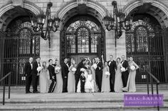 The wedding party photographed by Eric Barry Photography.