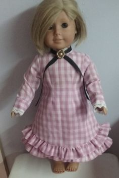 Pairie dress for 18 inch doll american girl by Lindassewncreations on Etsy