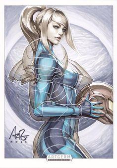 Metroid - Samus Aran by Artgerm Metroid Samus, Samus Aran, Metroid Prime, 5 Anime, Anime Art, Stanley Lau, Girl Pose, Zero Suit Samus, Image New