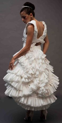 Wedding Dress made out of Tissue Paper.