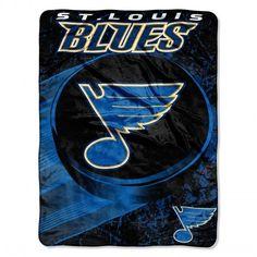 "St Louis Blues Throw Blanket NHL Soft Raschel Plush Team Logo 46"" x 60"" #Northwest #StLouisBlues"