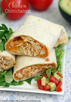 clean eating chicken and cheese chimichangas