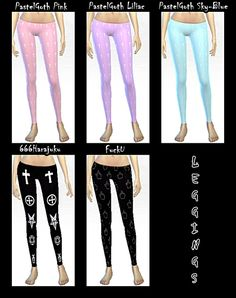 Leggings at DecayClown's Sims via Sims 4 Updates