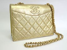 #Sale: was $1,361 now $1,128 #Chanel Chain Shoulder Bag Lamb Skin Gold(BF047046)