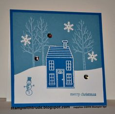 Holiday Home White Christmas by stampwithtrude - Cards and Paper Crafts at Splitcoaststampers