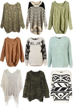 Sweater Overload! you can never have too many Oversized Sweaters LOVE LOVE LOVE