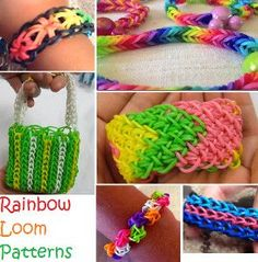 This is an incredible collection of Rainbow Loom Patterns! There is even a bracelet you can make without the loom!!
