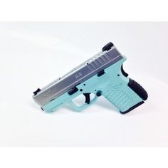 My newest beauty!! Tiffany Blue Springfield XDS 9mm SS <3