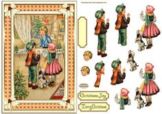 Christmas Shopping Topper on Craftsuprint designed by Sandra Carlse - This is a lovely 'Vintage Decoupage Christmas' Topper. There are all the elements on this sheet for you to be able to make up your topper. I have also included 2 sentiment banners